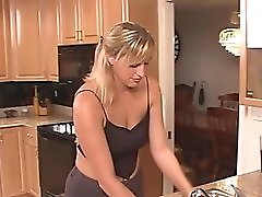 Milf wife has some fun in the KITCHEN