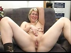 Mature Blonde Masturbates And Has Fun