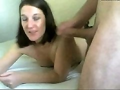 Dirty CamSlut mouth fucked facialed and swallow sperm