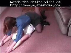 Sexy Playfight Between Two Women BDSM Bondage Slave Fem