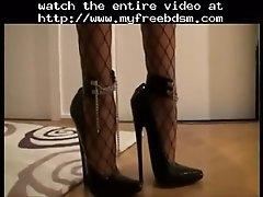 7 5 Inch High Heels Netzstrumpfhose Minikleid 2 Bds