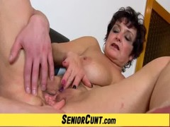Up Close POV Old Vagina Fingering With Mature Greta