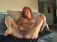 Mature redhead dildos