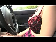 Mature Milf Teases in her Car