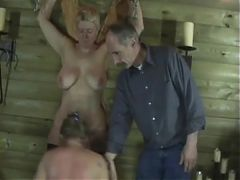 Two Older Women Enjoy BDSM Spanking