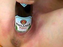 Amateur German Pierced Mature Self Fists & Deep Bottles