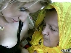 Nasty lesbians get horny rubbing their wet hairy cunts