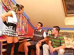 Schoolgirl Goddess Makes 2 Gay Boys
