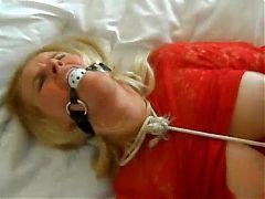 Bdsm mature slave bound gagged big tits torture