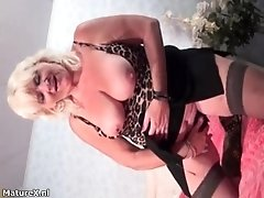 Busty Old Woman Shows Her Massive Tits She Gets Horny