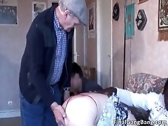 Nasty Hairy MILF Slut Blows Cock And Gets Fucked In The