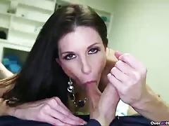 Horny Brunette MILF Likes Cock Stroking