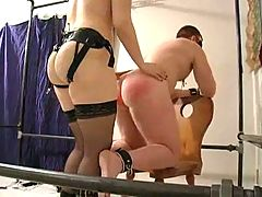 Her Slave Is Bound Spanked And Fucked