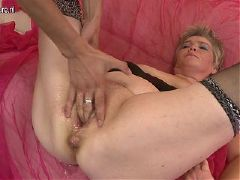 Two mature aunties sharing young boy s cock