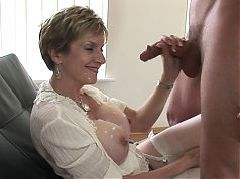 Sexy bbw granny seduces young man